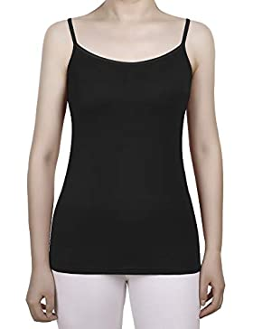 Satinior Camisolas de Mujeres con Inserto de Sujetador Camisetas sin Mangas de Tirante Spaghetti Ajustable Camisolas...