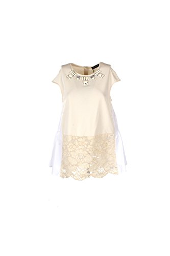 Blusa Donna Twin-set 42 Beige Ps7291 1/7 Primavera Estate 2017