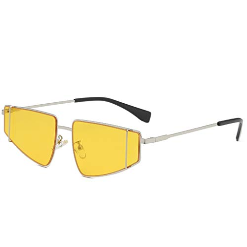fazry Große Sonnenbrille Damen Herren Vintage Retro Brille Unisex Brillen Gr. Einheitsgröße, gelb