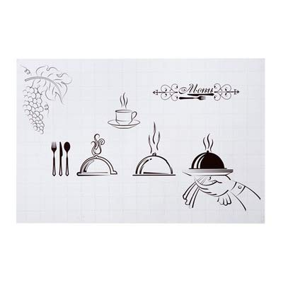Selbstklebende Hochtemperatur-anti-öl-aufkleber Haushalt Ove Kachelaufkleber Cartoon Kitchen Tapete Anti-papier-aufkleber 60 * 90cm Kochen Desserts