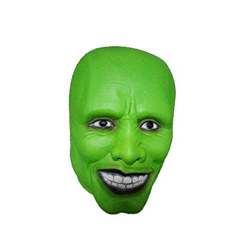 WSLG Super Interessant Jim Carrey Die Halloween Maske Schrecklicher Terror Kreative Lustige Breathable Latex Grimasse Kann In Halloween Party Maskerade Festival Etc