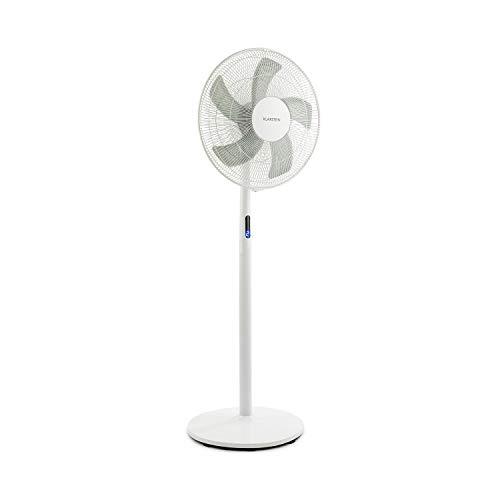 Klarstein Flex Stream Ventilator Standventilator (3-fach höhenverstellbar, 8 Geschwindigkeitsstufen, zuschaltbare Oszillation, 8h Timer, WhisperFlow, robuster Standfuß, Fernbedienung) weiß