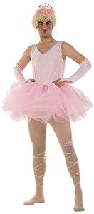 Limit Sport - Disfraz de bailarina para hombre, color rosa, talla XL (MA487)