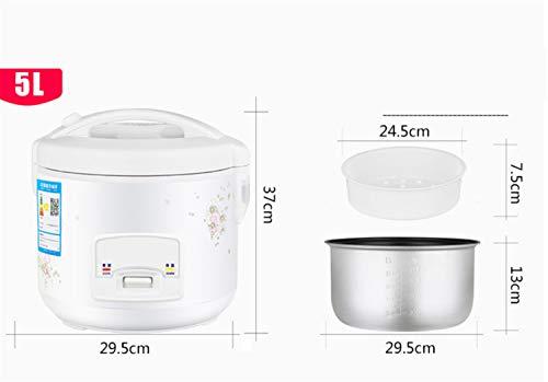 Reiskocher 5L 4L 3L Weißgold Warmhalten Funktion Hochwertiger Innentopf für bis zu 12 Personen Spatel Messbecher Reis 5L