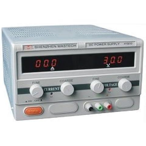 MASTECH hy3010e salida variable única, fuente de alimentación de corriente continua, digital 0 a 30v @ 0-10A