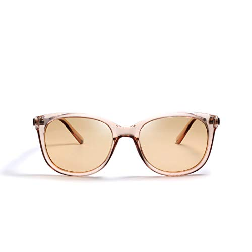 kimorn polarisiert Sonnenbrillen für Frauen Groß Cateye Metall Temple Classic K0654 (Transparent braun)