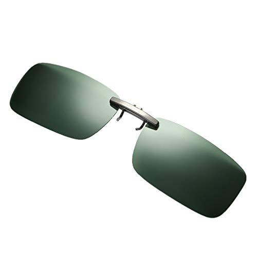 Bluelucon Sonnenbrille, Unisex Polarisiert Clip polarisierte Brille Flip up Sonnenbrille Clip Gegen Licht für Frauen und Männer Brillenträger
