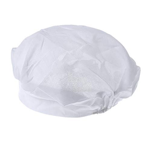 Einfache College Super Kostüm - Haptian Staubschutzkappe, Einfache weiße Chef BBQ Cook Puffy Hat Kostüm Schutzkappe Staub
