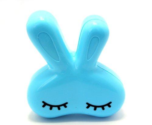 Kontaktlinsenbehälter Linsenbehälter Aufbewahrungsbehälter Behälter Hase Set NEU (Blau)
