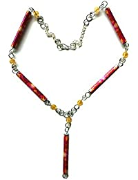 1st wedding anniversary Paper Bead Necklace by MIMI PINTO
