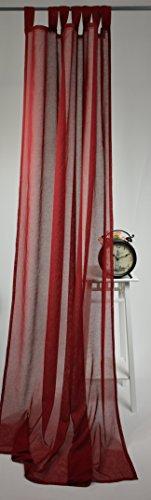 Homing tenda con 7occhielli–incl. universal band store sciarpa tenda effetto lino tinta unita semitrasparente 140x 245cm bordeaux