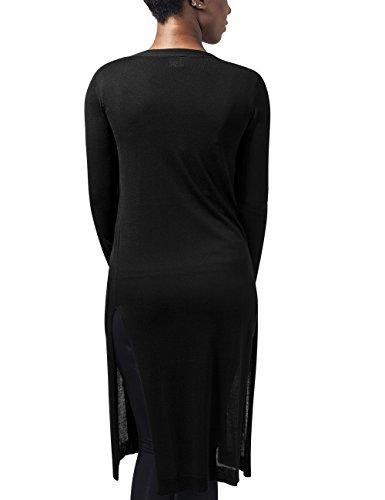 Urban Classics Damen Cape Ladies Fine Knit Long Cardigan Schwarz (Black 7)