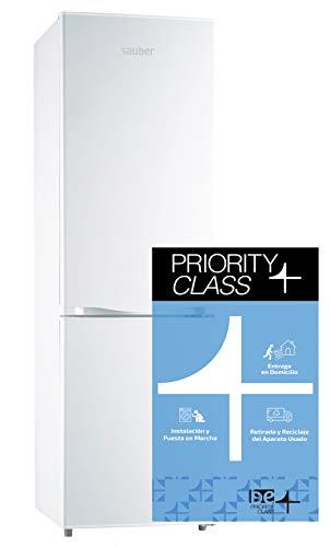 Sauber - Frigorífico Combi SC170B - Eficiencia energética: A+ - 170x55cm - Color Blanco