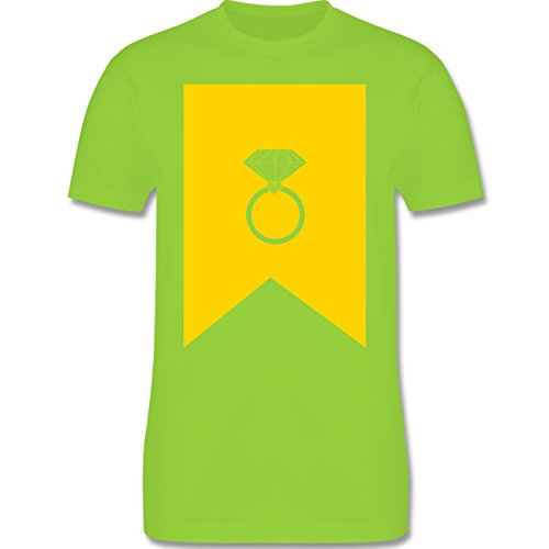 Symbole - Ring Brilliant - Herren Premium T-Shirt Hellgrün