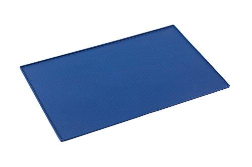 Snug Tapis d'Alimentation pour animaux, Chien et Chat, Silicone aux normes FDA de première qualité - Taille 61cm x 41cm (Bleu)