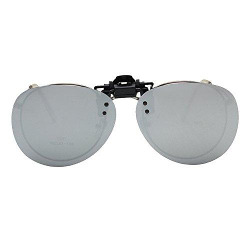 iKulilky Polarisierte Sonnenbrille Clip Polarisation Clip-On Eyewear für Brillenträger UV400 Flip up Myopic Sonnenbrille blendfreie Brille Gläser für Herren Damen Outdoor/Driving/Fishing