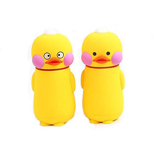 FLLH wasserflasche süß kreative kleine gelbe Ente wärmedämmung Cup Hand 304 edelstählen kolben 2-Pack Wasser Trinken(248ml) - Thermoskanne Kolben Kleinen