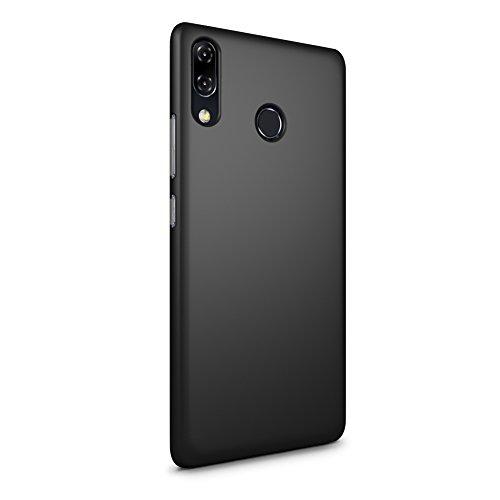 SLEO ASUS ZenFone 5 (2018) ZE620KL Hülle, Hart PC [Robuste Schutzhülle] Handyhülle Tasche Schlank Schale Hard Cover für ASUS ZenFone 5 (2018) ZE620KL Case - Schwarz