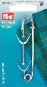 Prym Kiltnadel, 76mm, silberfarbig, Eisen -