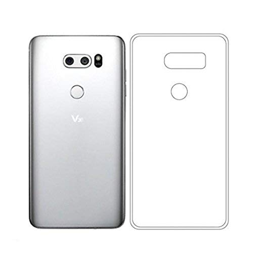 QULLOO LG V30 / LG V35 ThinQ/LG V30 Plus/LG V30S Hülle Schutzhülle, TPU Crystal Case Durchsichtig Klar Silikon transparent für LG V30 / LG V30 Plus/LG V30S / LG V35 ThinQ (Transparent)