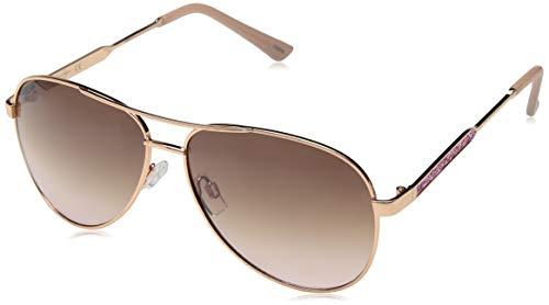 Jessica Simpson Damen J5704 RGDRS Sonnenbrille Iridium Fliegerbrille Gold Rose 60 mm