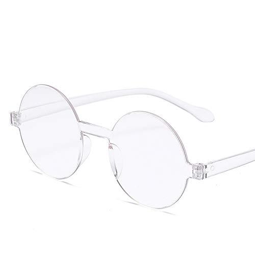 DIYOO Vintage Rund Brille rahmenlose siamesische Sonnenbrille Gelee Sonnenbrille für Damen Herren Paar Sonnenbrille transparent