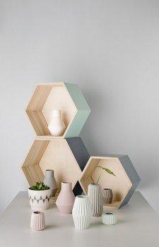 Bloomingville Storage Box 3 er Set Sechseck schwarz & natur - 3