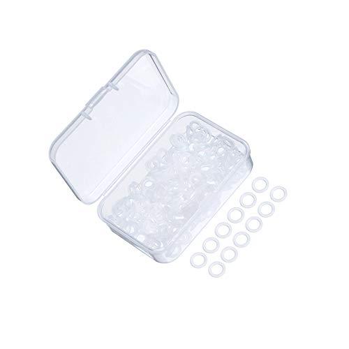 LEEQ 200 Stück Gummiringe Klar Dichtung O-Ring Gummi Tastatur Dämpfer mit Kunststoff-Aufbewahrungsbox für Cherry MX Switch Tastatur und mechanische Tastatur Tasten