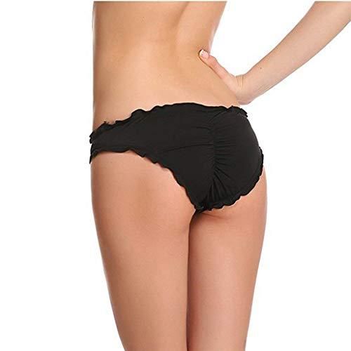 Sexy Ruffle Wavy Cheeky brasilianischen Bikini Bottom Hipster Allure Badeanzug