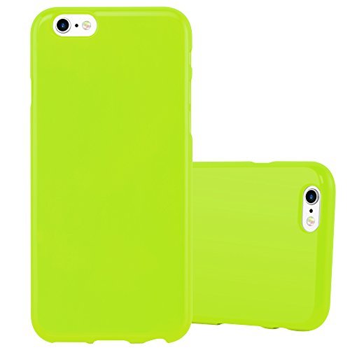 Preisvergleich Produktbild Cadorabo Hülle für Apple iPhone 6 / iPhone 6S - Hülle in Jelly GRÜN – Handyhülle aus TPU Silikon im Jelly Design - Silikonhülle Schutzhülle Ultra Slim Soft Back Cover Case Bumper