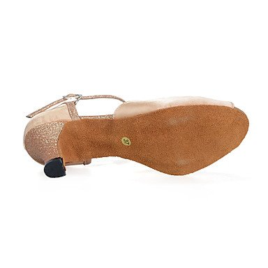 Scarpe da ballo-Personalizzabile-Da donna-Danza del ventre / Balli latino-americani / Jazz / Sneakers da danza moderna / Moderno / Samba beige