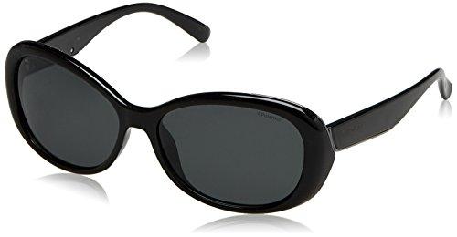 Polaroid Damen PLD 4024/S Y2 D28 58 Sonnenbrille, Schwarz (Shiny Black/Grey Pz),