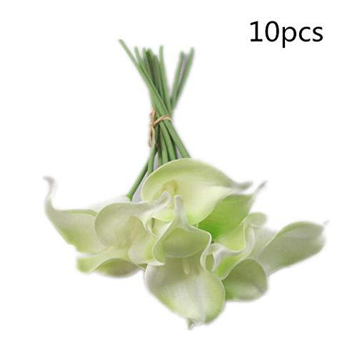 Generic 10 Stück Calla Lily Blumen Brautstrauß Künstlich Latex Echte Berührung Blumenstrauß Hochzeit Party Haus Dekoration von SamGreatWorld