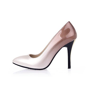 Zormey Women'S Shoes Stiletto Heel Leder/Schuhe Heels Party & Amp Abend-/Kleid Schwarz/Farbverlauf Gelb/Rot/Mandel US3.5 / EU33 / UK1.5 / CN32