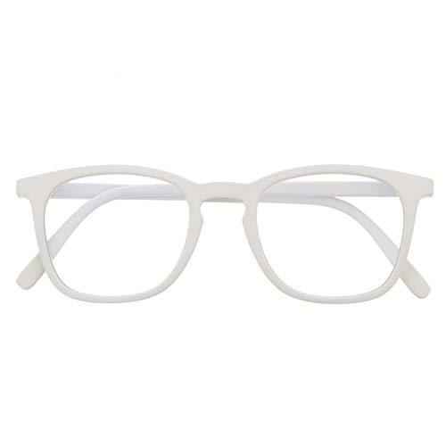 Blaulichtfilter Brille für Damen und Herren. Blaufilter Brille mit stärke oder ohne sehstärke für Gaming oder Pc. Gummi-Touch-Tempel und Blendschutzgläser. Ash +2.0 - TATE