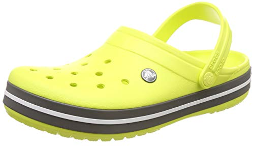 crocs Unisex-Erwachsene Crocband U Clogs, Grün (Citrus/Grey 725), 42/43 EU - Amazon Clearance