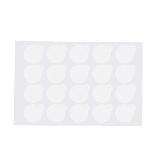 Anself 500pcs Jetable Cils Extension Colle Autocollant Patches Tampons Adhésifs Palette Colle Adhésive