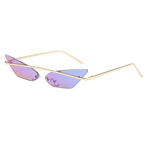 Battnot☀ Sonnenbrille für Damen Herren, Unisex Vintage Unregelmäßige Runde Form Rahmen Mode Anti-UV Gläser Sonnenbrillen Schutzbrillen Männer Frauen Retro Billig Sunglasses Fashion Women Eyewear