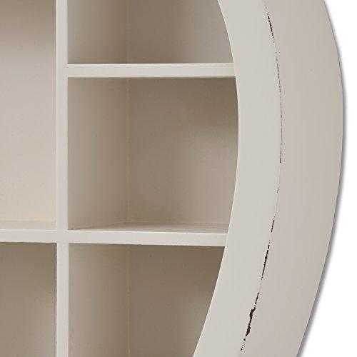 PRICE BUMP 5TH SEPT 18 Large Heart Shaped Multi-Display Cream Wooden Shelf Shelving Unit