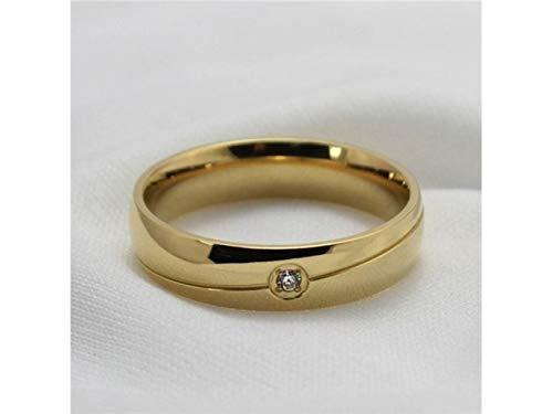 Nqceksrdfzn meraviglioso classico generale da uomo 18 carati con diamante micro intarsiato anello stati uniti 7 yard gold