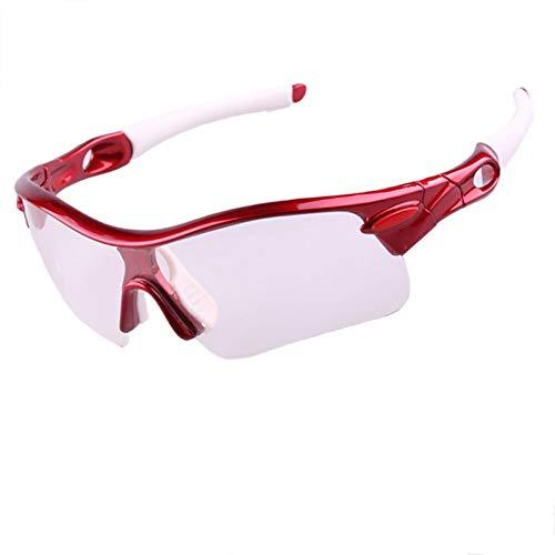 DOLOVE Motorradbrille für Herren Sonnenbrille Herren Nachtsichtbrille Zum Autofahren Rot Weiß-Klar+Schwarz+Gelb+Bunten Lens