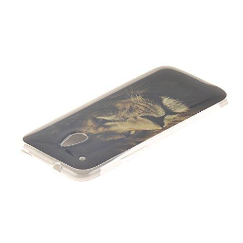 HTC ONE Mini M4 hülle,MCHSHOP Ultra Slim Skin Gel Schlank TPU Case Schutzhülle Silikon Silicone Schutzhülle Case Back Cover für HTC ONE Mini M4 - 1 Kostenlose Stylus Pen (Löwenzahn sich verlieben) der könig der löwen