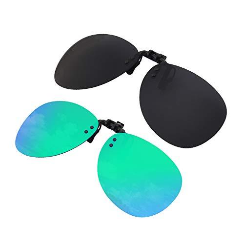 GQUEEN Polarisierte angeklippt Flip Randlose Flieger Objektiv Außen Fahren Angeln Sonnenbrillen,JP94