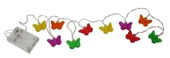 Idena LED Lichterkette Schmetterling, batteriebetrieben 8582152
