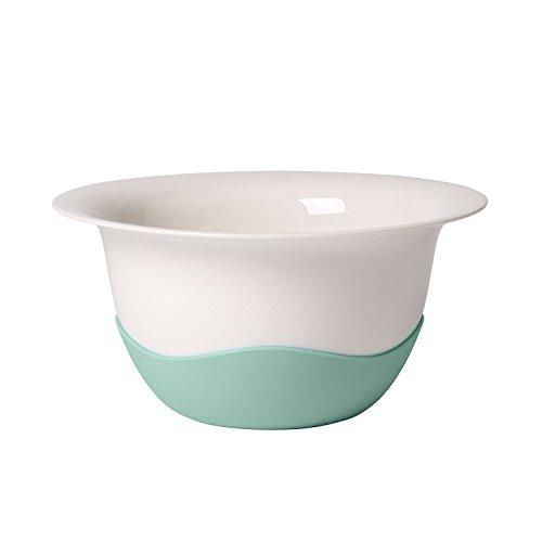 Villeroy & Boch Clever Cooking Servierschüssel mit Sieb, Premium Porzellan/Silikon, Weiß/Grün