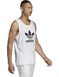 adidas Trefoil Tank, Canotta Uomo, Bianco, M