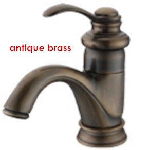 Maifeini Classic Red Copper Basin Mixer Chrome Golden Basin Faucet Antique Brass Tap Copper, Dark