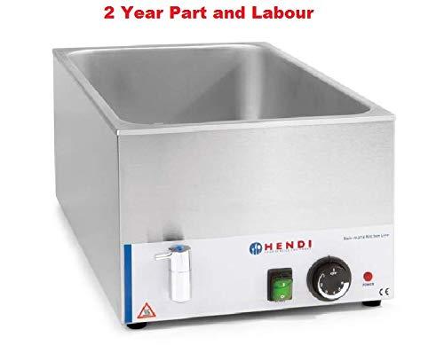 Elektrisches Wasserbad mit Wasserhahn, 1/1, elektrisch, für Nasswärme geeignet, ohne Pfanne/elektrisch