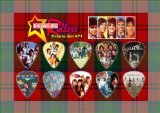 Bay City Rollers Guitar plektron Display - Premium Celluloid Tribute Set