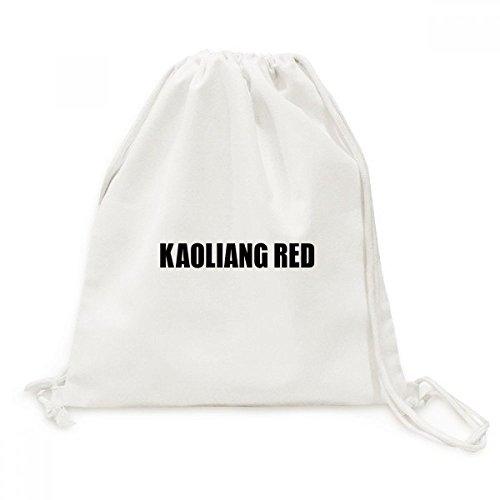 DIYthinker Kaoliang Rot Farbe Schwarz Name des Canvas-Rucksack-Reisen Shopping Bags